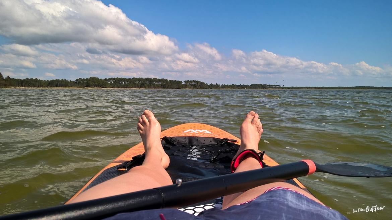 paddle SUP sur le lac d'hourtin
